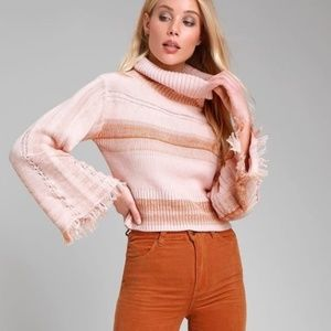 """FREE PEOPLE """"Close To Me Knit Sweater"""" NWT"""